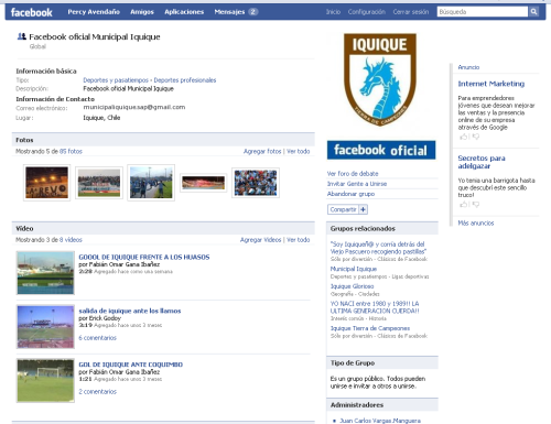 Facebook Municipal Iquique